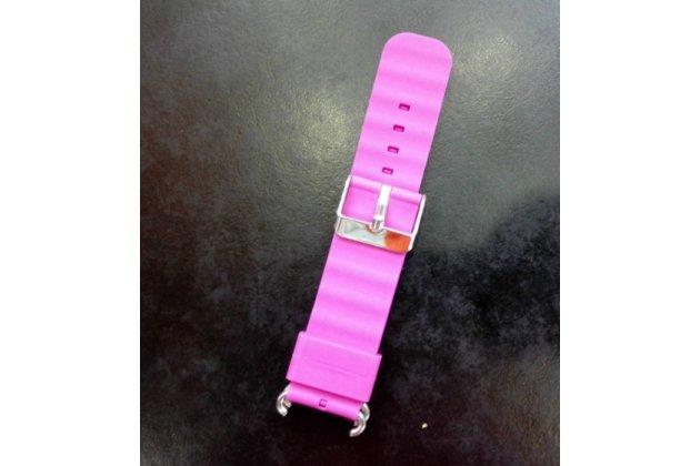 Фирменный необычный сменный силиконовый ремешок  для умных смарт-часов Smart Baby Watch Q60 разноцветный