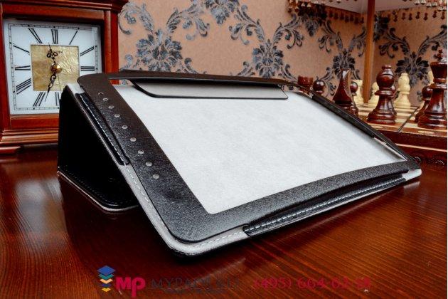 Фирменный оригинальный чехол-обложка для Smarto 3GDi10 с вырезом под камеру черный