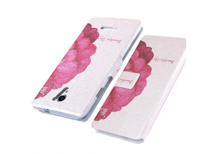 Фирменный уникальный необычный чехол-книжка для Sony Xperia T3 Dual D5103