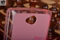 Фирменная ультра-тонкая полимерная из мягкого качественного силикона задняя панель-чехол-накладка для Sony Xperia C S39h / C2304 / C2305 розовая