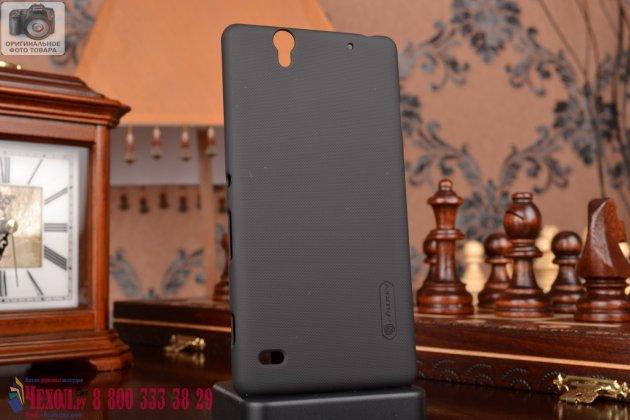 Фирменная задняя панель-крышка-накладка из тончайшего и прочного пластика для  Sony Xperia C4/ C4 Dual  черная