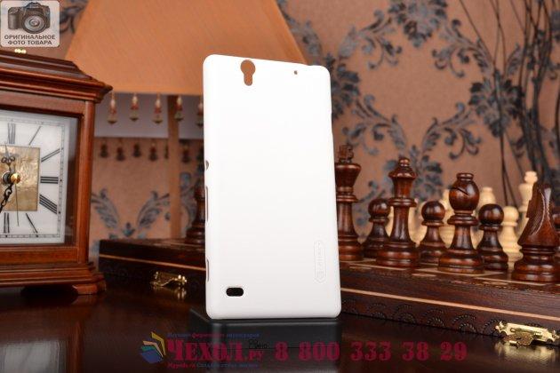 Фирменная задняя панель-крышка-накладка из тончайшего и прочного пластика для Sony Xperia C4/ C4 Dual белая