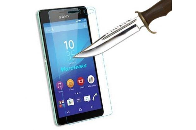 Фирменное защитное закалённое противоударное стекло премиум-класса из качественного японского материала с олеофобным покрытием для Sony Xperia C4/ C4 Dual