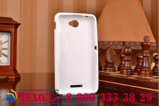 Фирменная ультра-тонкая полимерная из мягкого качественного силикона задняя панель-чехол-накладка для Sony Xperia E4/ E4 Dual E2105/E2115 белая