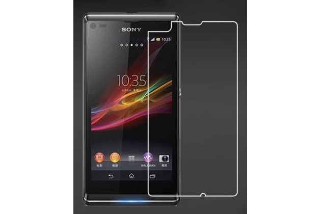 Фирменная оригинальная защитная пленка для телефона Sony Xperia L S36h (C2105) глянцевая