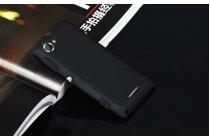 Фирменная задняя панель-крышка-накладка из тончайшего и прочного пластика для Sony Xperia L C2105 черная