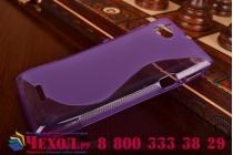 Фирменная ультра-тонкая полимерная из мягкого качественного силикона задняя панель-чехол-накладка для Sony Xperia L (C2105) фиолетовая