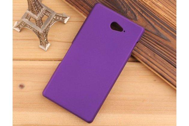 Фирменная задняя панель-крышка-накладка из тончайшего и прочного пластика для Sony Xperia M2 Aqua D2403 фиолетовая