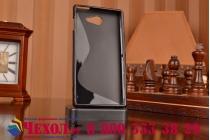 Фирменная ультра-тонкая полимерная из мягкого качественного силикона задняя панель-чехол-накладка для Sony Xperia M2 Aqua D2403 черная