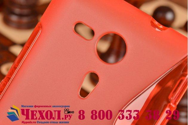 Фирменная ультра-тонкая полимерная из мягкого качественного силикона задняя панель-чехол-накладка для Sony Xperia SP M35h (C5302/C5303) красная