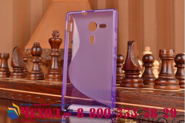 Фирменная ультра-тонкая полимерная из мягкого качественного силикона задняя панель-чехол-накладка для Sony Xperia SP M35h (C5302/C5303) фиолетовая