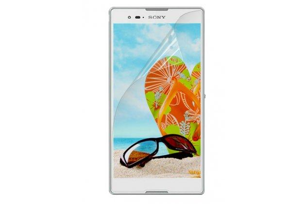 Фирменная оригинальная защитная пленка для телефона Sony Xperia T2 Ultra/ T2 Ultra Dual D5303/D5322 глянцевая