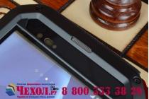 Неубиваемый водостойкий противоударный водонепроницаемый грязестойкий влагозащитный ударопрочный фирменный чехол-бампер для Sony Xperia T2 Ultra dual D5322  цельно-металлический со стеклом Gorilla Glass