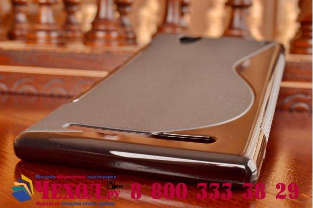 Фирменная ультра-тонкая полимерная из мягкого качественного силикона задняя панель-чехол-накладка для Sony Xperia T2 Ultra/ T2 Ultra Dual D5303/D5322 черная