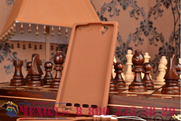 """Фирменная необычная уникальная полимерная мягкая задняя панель-чехол-накладка для Sony Xperia T2 Ultra/ T2 Ultra Dual """"тематика Андроид в тёмном Шоколаде"""""""