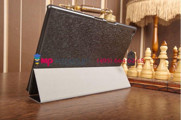 """Фирменный умный чехол самый тонкий в мире для Sony Xperia Tablet Z2 """"Il Sottile черный пластиковый Италия"""
