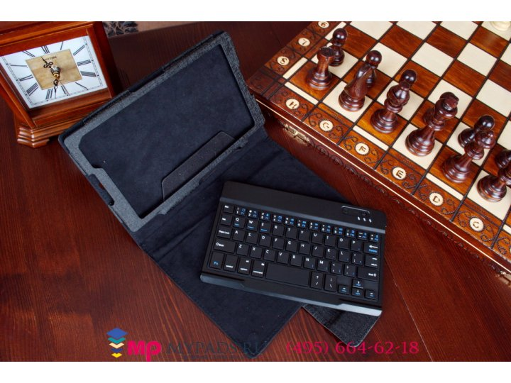 Фирменный чехол со съёмной Bluetooth-клавиатурой для Sony Xperia Z3 Tablet Compact (SPG611/SGP621RU) черный ко..