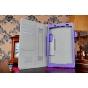 Фирменный чехол бизнес класса для Sony Xperia Z3 Tablet Compact с визитницей и держателем для руки фиолетовый ..