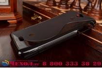 Фирменная ультра-тонкая полимерная из мягкого качественного силикона задняя панель-чехол-накладка для Sony Xperia V (LT25i) черная