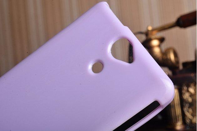 Фирменная ультра-тонкая полимерная из мягкого качественного силикона задняя панель-чехол-накладка для Sony Xperia V (LT25i) фиолетовая