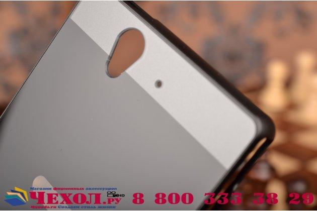Фирменная металлическая задняя панель-крышка-накладка из тончайшего облегченного авиационного алюминия для Sony Xperia Z C6602/C6603 (L36h) черная
