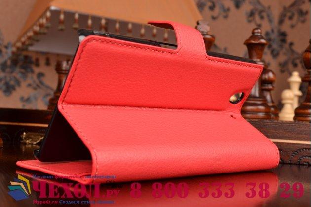 Фирменный чехол-книжка с подставкой для Sony Xperia Z C6602/C6603 красный