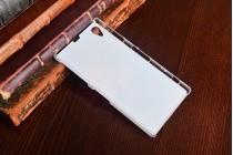Фирменная роскошная задняя панель-чехол-накладка с красивым Космическим закатом на Sony Xperia Z1 (C6903)