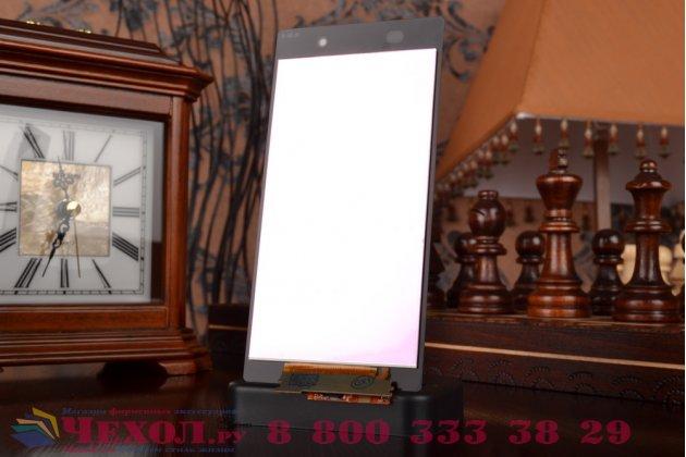 Фирменный LCD-ЖК-сенсорный дисплей-экран-стекло с тачскрином на телефон Sony Xperia Z1 (C6903) черный + гарантия