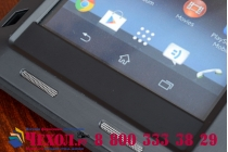 Неубиваемый водостойкий противоударный водонепроницаемый грязестойкий влагозащитный ударопрочный фирменный чехол-бампер для Sony Xperia Z1 (C6903) цельно-металлический со стеклом Gorilla Glass