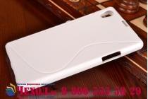 Фирменная ультра-тонкая полимерная из мягкого качественного силикона задняя панель-чехол-накладка для Sony Xperia Z1 (C6903) белая