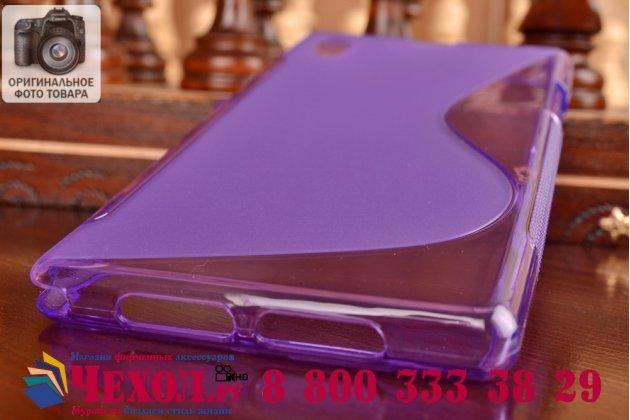 Фирменная ультра-тонкая полимерная из мягкого качественного силикона задняя панель-чехол-накладка для Sony Xperia Z1 (C6903) фиолетовая