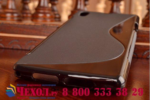 Фирменная ультра-тонкая полимерная из мягкого качественного силикона задняя панель-чехол-накладка для Sony Xperia Z1 (C6903) черная