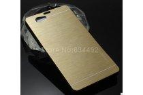 Фирменная металлическая задняя панель-крышка-накладка из тончайшего облегченного авиационного алюминия для Sony Xperia Z1 Compact D5503 золотая