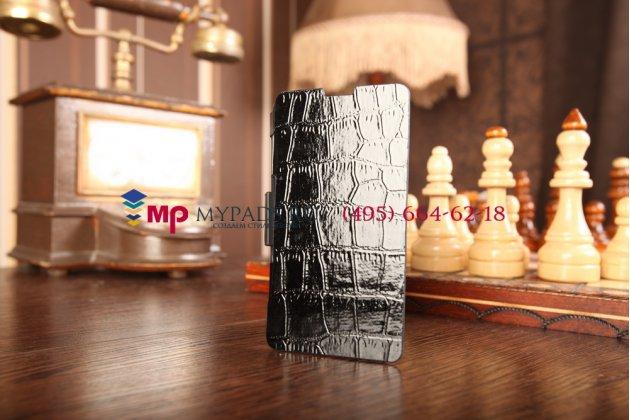 Чехол-книжка со встроенной усиленной мощной батарей-аккумулятором большой повышенной расширенной ёмкости 3500mAh для Sony Xperia Z1 Compact D5503 черный + гарантия