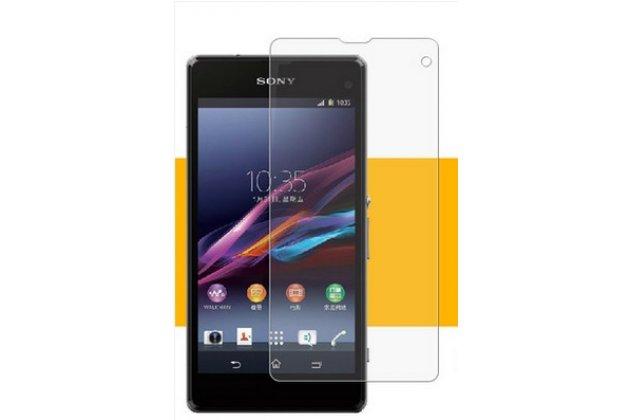Фирменная оригинальная защитная пленка для телефона Sony Xperia Z1 Compact D5503 глянцевая
