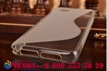 Фирменная ультра-тонкая полимерная из мягкого качественного силикона задняя панель-чехол-накладка для Sony Xperia Z1 Compact D5503 серая