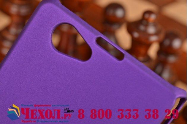 Фирменная задняя панель-крышка-накладка из тончайшего и прочного пластика для Sony Xperia Z1 Compact D5503 фиолетовая