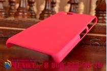 Фирменная задняя панель-крышка-накладка из тончайшего и прочного пластика для Sony Xperia Z1 Compact D5503 розовая