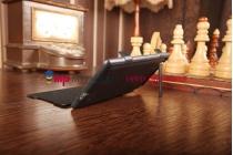 Чехол-книжка со встроенной усиленной мощной батарей-аккумулятором большой повышенной расширенной ёмкости 4500mAh для Sony Xperia Z2 (D6503) черный + гарантия