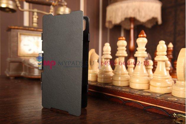 Чехол-книжка со встроенной усиленной мощной батарей-аккумулятором большой повышенной расширенной ёмкости 3500mAh для Sony Xperia Z2 (D6503) черный + гарантия