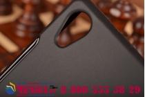 Фирменная ультра-тонкая полимерная из мягкого качественного силикона задняя панель-чехол-накладка для Sony Xperia Z2 (D6503) черная