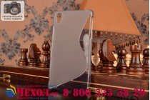 Фирменная ультра-тонкая полимерная из мягкого качественного силикона задняя панель-чехол-накладка для Sony Xperia Z2 (D6503) серая