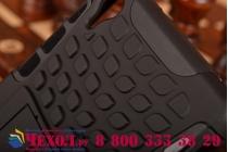 Противоударный усиленный грязестойкий фирменный чехол-бампер-пенал для Sony Xperia Z2 (D6503) черный