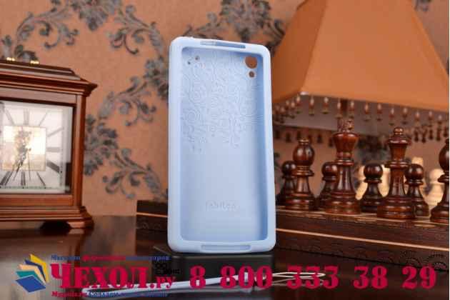"""Фирменная необычная уникальная полимерная мягкая задняя панель-чехол-накладка для Sony Xperia Z2 (D6503) """"тематика Андроид в черничном шоколаде"""""""