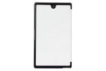 """Фирменный умный чехол-книжка самый тонкий в мире для Sony Xperia Z3 Tablet Compact (SPG611/SGP621RU) """"Il Sottile"""" белый пластиковый"""