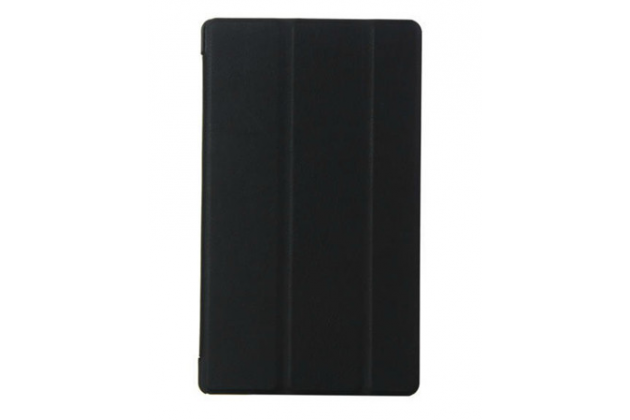 """Фирменный умный чехол самый тонкий в мире для Sony Xperia Z3 Tablet Compact  """"Il Sottile"""" черный пластиковый"""