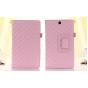 Стёганая кожа в ромбик с узором чехол-обложка для Sony Xperia Z3 Tablet Compact (SPG611/SGP621RU) розовый кожа..