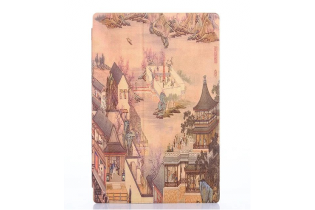 "Чехол-футляр для Sony Xperia Z4 Tablet SGP712/SGP771 10.1"" ""тематика улицы Города"" кожаный коричневый"