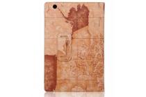 "Чехол-футляр для Sony Xperia Z4 Tablet SGP712/SGP771 10.1"" ""тематика карта мира"" кожаный коричневый"