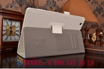 """Фирменный чехол бизнес класса для Sony Xperia Z4 Tablet SGP712/SGP771 10.1"""" с визитницей и держателем для руки белый натуральная кожа """"Prestige"""" Италия"""